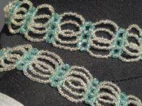 Argent et bleu/vert