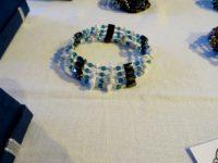 Collier-bracelet vert émeraude
