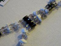 Collier-bracelet rose/parme