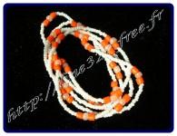 Orange et blanc
